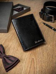 Pierre Andreus Luxusní pánská kožená peněženka bez přezky Randy, černá