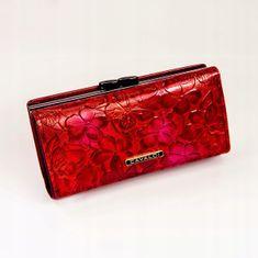 Cavaldi Červená kožená dámská peněženka Cavaldi