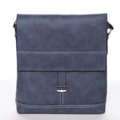 Wild Modní pánská taška přes rameno Lucien, modrá