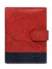 Always Wild Kožená elegantní pánská peněženka AW, červená