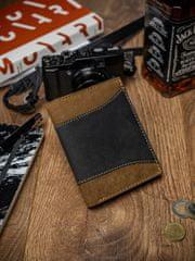 Always Wild Prošívaná pánská kožená peněženka Eliseo, černo-hnědá