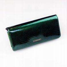 Lorenti Lesklá obdélná peněženka pro dámy, zelená