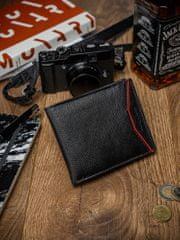 Always Wild Pánská kožená peněženka na šířku Zed, černo-červená