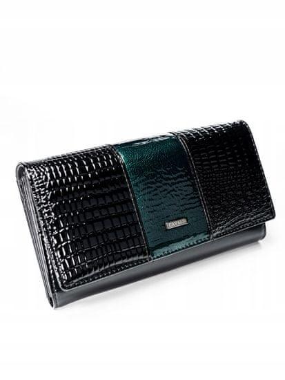 4U Cavaldi Exkluzivní lakovaná kožená peněženka Gita, zelená