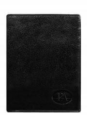 Pierre Andreus Pánská kožená peněženka bez přezky Toni, černá