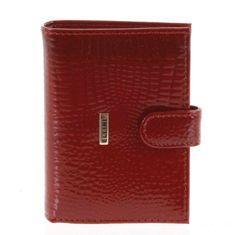 Ellini Dámská kožená peněženka Mia červená