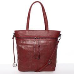 Dudlin Atraktivní dámská kabelka Adriana, vínově červená