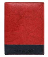 Always Wild Prošívaná pánská kožená peněženka Bruno, červená