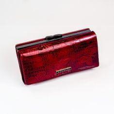 Cavaldi Dámská lakovaná kožená peněženka Tera, červená