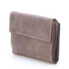Wild Rozkládací kožená pánská peněženka Nazario světle hnědá