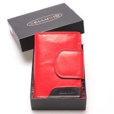 Bellugio Dámská kožená peněženka Camillo červená/černá