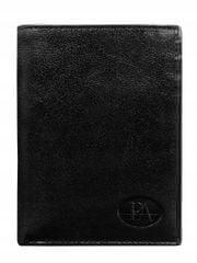Pierre Andreus Elegantní pánská kožená peněženka Franco, černá bez přezky