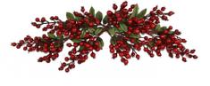 DUE ESSE Vianočná dekorácia vetvičky s lesnými bobuľami 65 cm