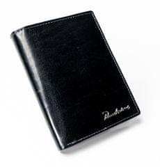 Pierre Andreus Černá prošívaná kožená pánská peněženka Patrick