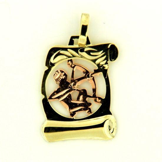 Amiatex Zlatý prívesok 16812 + Nadkolienky Sophia 2pack visone, 0.85 G