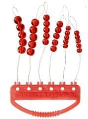 Cormoran skleněné perly červené 30 ks