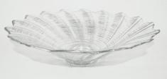 DUE ESSE staklena posuda Ø 39 cm, srebrne nijanse