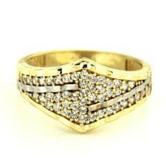 Amiatex Zlatý prsteň 13499 + Nadkolienky Sophia 2pack visone