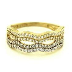 Amiatex Zlatý prsteň 13504 + Nadkolienky Sophia 2pack visone