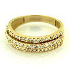 Amiatex Zlatý prsteň 13521 + Nadkolienky Sophia 2pack visone