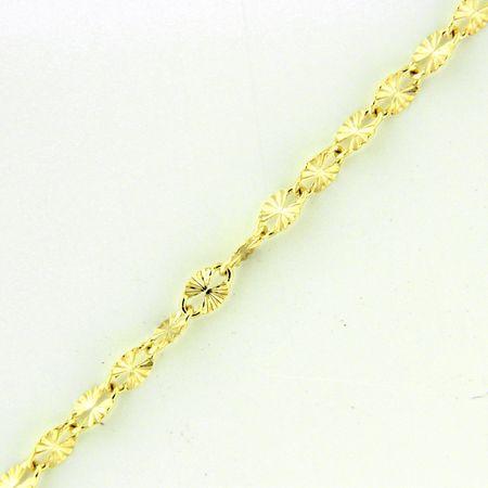 Amiatex Złoty łańcuszek 17305, 18, 0.65 G