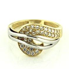 Amiatex Zlatý prsteň 13557 + Nadkolienky Sophia 2pack visone
