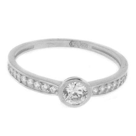 Amiatex Arany gyűrű 41439 + Nőin zokni Gatta Calzino Strech, 53, 1.55 G