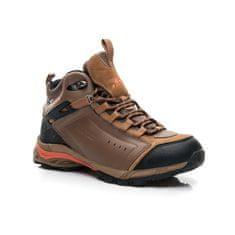 Pánske hnedé luxusné trekingové topánky