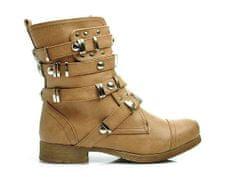Jedinečné hnedé členkové topánky so zdobenými prackami