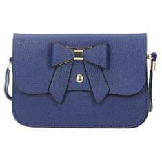 Modrá crossbody kabelka s mašličkou + dárek zdarma