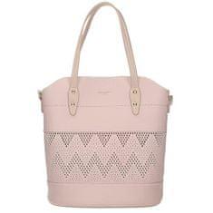 Originální fialová kabelka s ažurovým vzorem