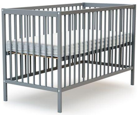AT4 dětská postýlka ESSENTIEL 60 × 120 cm šedá