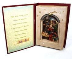 DUE ESSE Vánoční betlém scéna v knize 22 x 15 cm