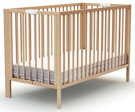 AT4 łóżeczko dziecięce EVOLUTION 60 × 120 cm, buk