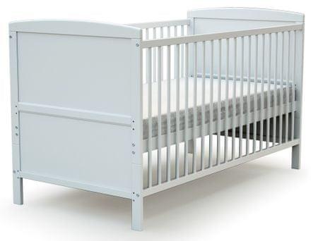 AT4 otroška postelja EVOLUTION (2v1), 70 × 140 cm, bela