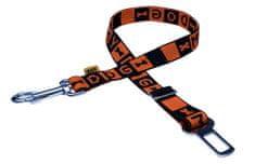 BAFPET pas samochodowy dla psa 49-78 cm, pomarańczowy