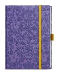 Diář týdenní Prokop vivella extra B6 fialový - ornamenty