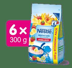 Nestlé Mléčná kaše jahoda a banán 6x300g