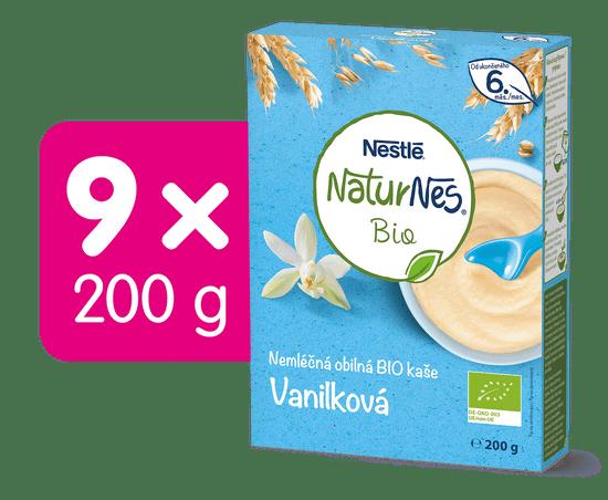 Nestlé Naturnes BIO Nemléčná kaše Vanilková 9x200g + dárek
