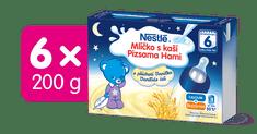 Nestlé Mlíčko s kaší Vanilkové - 6 x (2x200ml)