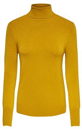 ONLY Női pulóver ONLVENICE L / S ROLLNECK pulóverek KNT NOOS Gold en Yellow (méret M)