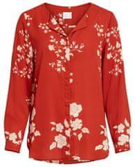 VILA Dámska košeľa VILUCY L/S SHIRT - FAV LUX Ketchup