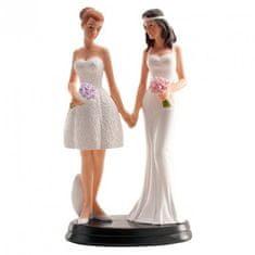 Dekora Svatební figurka na dort 20cm ona a ona lesbičky