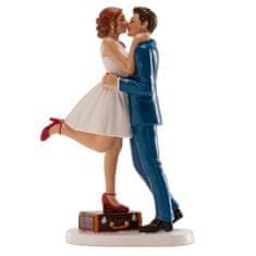 Dekora Svatební figurka na dort 16cm pusa