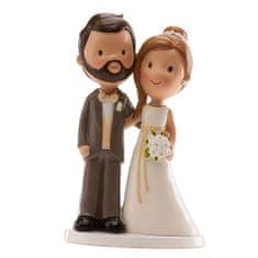 Dekora Svatební figurka na dort 14cm novomanželé