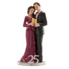 Dekora Svatební figurka na dort 25let spolu stříbrná svatba