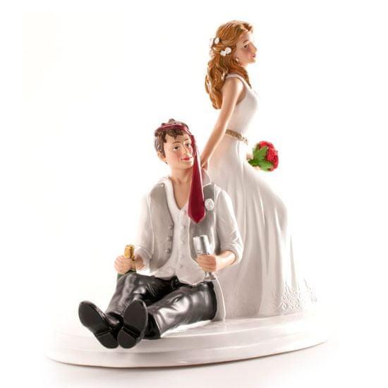 Dekora Svatební figurka na dort 14cm opilý ženich