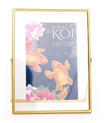 Sifcon Fotorámeček KOI, 10,5 × 15,5 cm, zlatý
