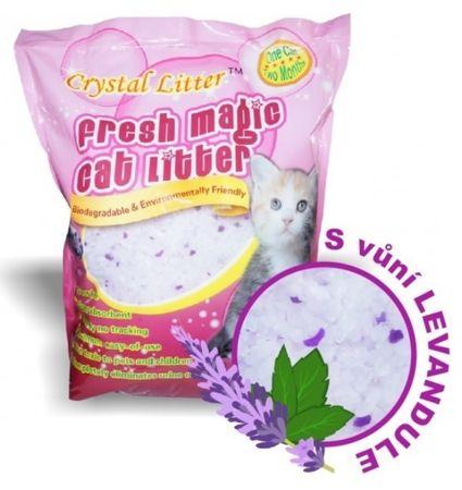 Crystal Litter Cat levendula illattal, 16 literes