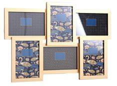 Sifcon Nástěnný fotorámeček, 6 ks, 45×29 cm, zlatý